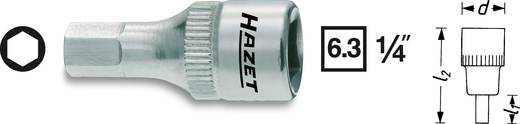Hatlapú csavarhúzófej belső hatszögű csavarokhoz 5 mm, belső négyszög 6,3 mm (1/4), Hazet 8501X-5
