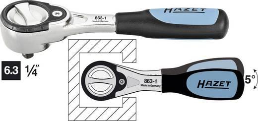 Finomfogazású átkapcsolható racsni 6,3 mm (1/4), 119 mm, Hazet 863-1