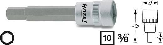 Hatlapú csavarhúzófej belső hatszögű csavarokhoz 6 mm, belső négyszög 10 mm (3/8), Hazet 8801-6