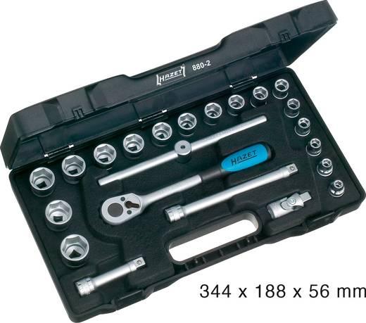 """Racsnis dugókulcs készlet, krova készlet 6 lapfejű 22részes 10 mm (3/8"""") Hazet 6KT 880-2"""