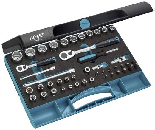 Racsnis dugókulcs készlet 6 lapfejű 46 részes készlet Hazet 882-1