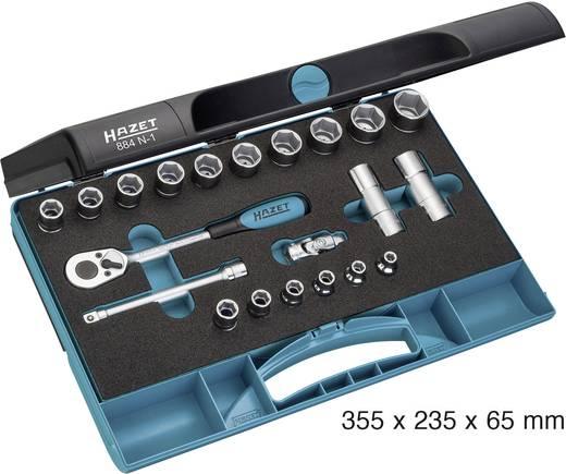 """Racsnis dugókulcs készlet hatlapfejű 10mm (3/8"""") 21 részes készlet Hazet 884N-1"""