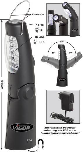 LED-es, akkus munkalámpa, hajlítható műhelylámpa, Vigor V2316