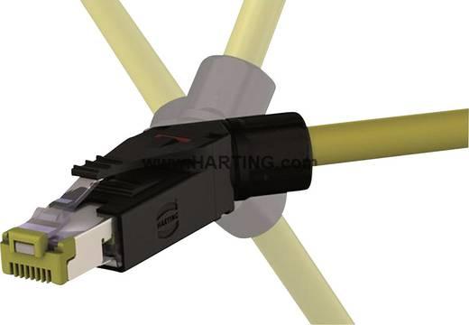 Industrial® Dugaszolós csatlakozó készlet RJ45 10G dugó, hajlított Industrial® 10G fekete Harting tartalom: 1 db