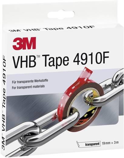 Nagyteljesítményű ragasztó rendszer (H x Sz) 3 m x 19 mm átlátszó VHB™ 4910F 3M, tartalom: 1 tekercs