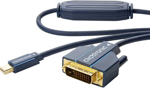 DisplayPort csatlakozókábel [1x mini DisplayPort dugó - 1x DVI dugó 24+1 pólusú] 2 m kék, Clicktronic