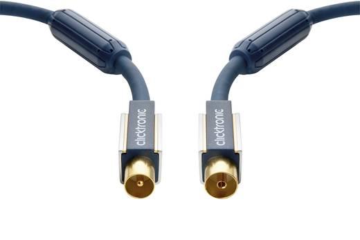 Antennakábel [Antennadugó - Antennacsatlakozó alj] 20m 120 dB aranyozott dugókkal, ferritmaggal szürke Clictronic 70608