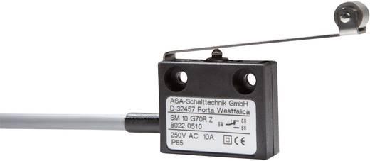 Mikrokapcsoló 250 V/AC 10 A 1 x BE/(KI) ASA Schalttechnik SM 10 G70R Z IP65 nyomó 1 db
