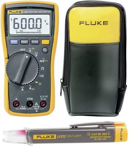 Digitális multiméter Fluke 115 és érintés nélküli feszültségvizsgáló készletben, Fluke LVD2 + hordtáska, Fluke C90