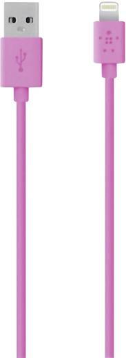 Apple töltőkábel iPhone iPad iPod adatkábel [1x USB 2.0 dugó A - 1x Apple Lightning dugó] 1,2 m rózsaszín Belkin 808462