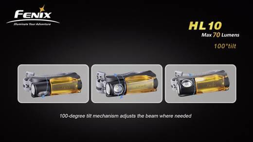LED-es fejlámpa, elemes, 45 g, fekete/narancs, Fenix HL10