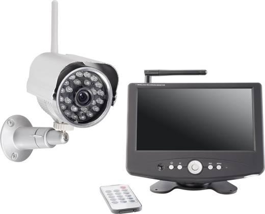 Vezeték nélküli felügyelő készlet 2,4 GHz, digitális felvevővel, 420 TVL, renkforce