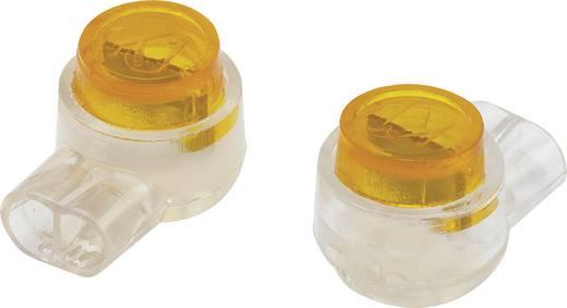 Egyeres csatlakozó, 0.13-0.38 mm² pólusszám: 2 Tru Components 93014c941 100 db Sárga