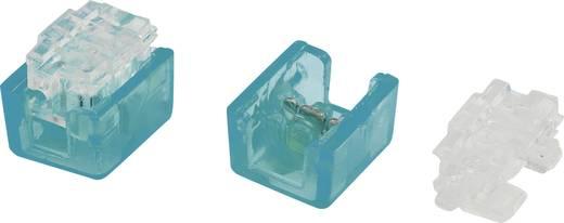 Egyeres csatlakozó, 0.13-0.38 mm² pólusszám: 2 Conrad 93014c945 100 db Világoskék