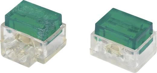 Egyeres csatlakozó, 1.13-1.13 mm² pólusszám: 2 Conrad 93014c946 30 db Zöld