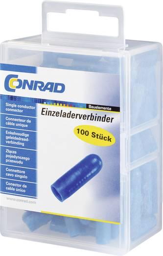 Egyeres csatlakozó, 0.08-0.38 mm² pólusszám: 2 Conrad 93014c948 100 db Kék