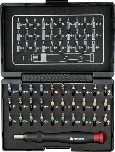 Mikro bit készlet 31részes racsnis csavarhúzóval Toolcraft 809204