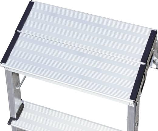 Krause 130037 Kétoldalon járható összecsukható, görgős alumínium fellépő létra