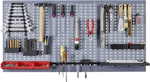 Perforált, lyukasztott szerszámtartó fal, 3 részes 120 cm x 60 cm Küpper 70100