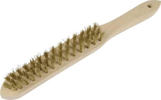 Sárgaréz drótkefe, kefe méret: 135 mm, 3 soros