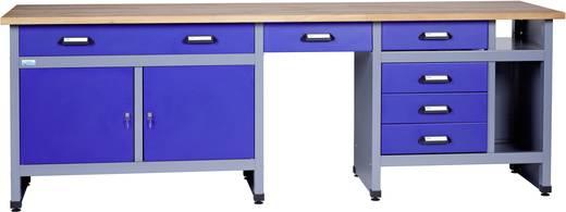 Szerszámos asztal szekrénnyel, 2 ajtó, 6 fiók