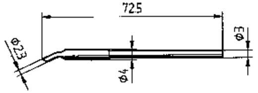 Ersa forrasztópákákba illeszthető 212 MS hajlított, ferde pákahegy, forrasztóhegy 2.3 mm