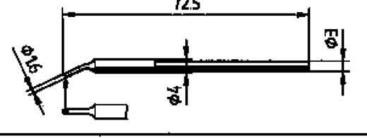 Ersa forrasztópákákba illeszthető 212 WD hajlított, ferde pákahegy, forrasztóhegy 1.6 mm