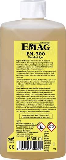 Ultrahangos tisztító folyadék, speciális tisztítószer kemény, zsíros szennyeződésekhez 0,5 l, Emag EM300