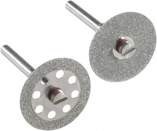 2db-os gyémánt vágótárcsa szett, gyémántozott vágótárcsa 22mm-es tárcsaátmérővel 3,2mm-es tengellyel