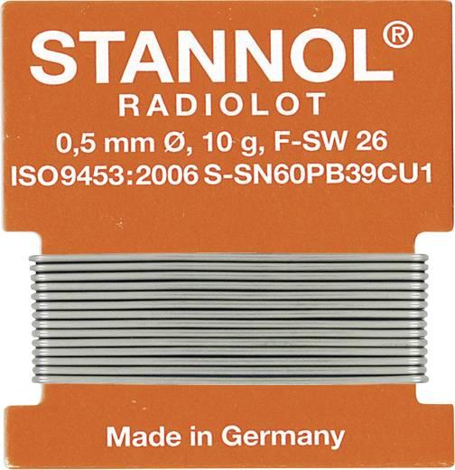 Forrasztóón huzal, Stannol HS 10 Sn60Pb39Cu1 10 g 0.5 mm