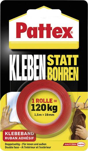 Pattex kétoldalú ragasztószalag 1,5m x 19mm fehér