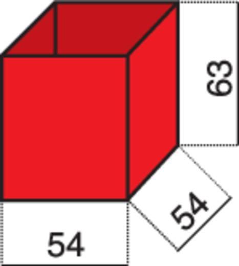 Alutec 1 részes alkatrésztároló, piros, 54 x 63 x 54 mm