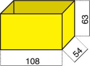 Alutec 1 részes alkatrésztároló, sárga, 108 x 54 x 63 mm Hünersdorff