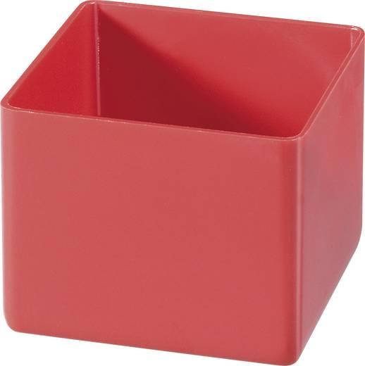 Alutec 1 részes alkatrésztároló, piros, 54 x 45 x 54 mm
