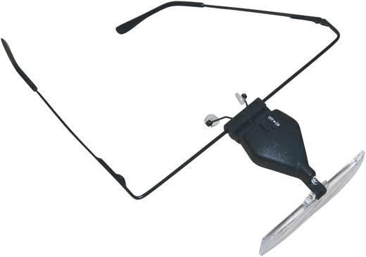 Nagyítós szemüveg LED világítással, 3 nagyító lencsével 1,5-/2,5-/3,5-szeres, RONA 450515