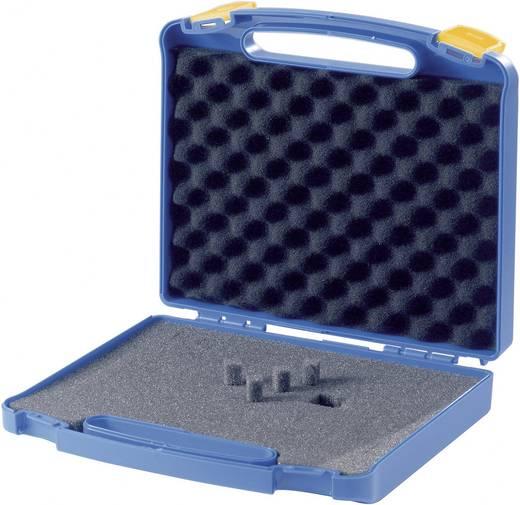 Müanyag koffer, műszerkoffer hullámos habszivacs betéttel, 245 x 220 x 50 mm