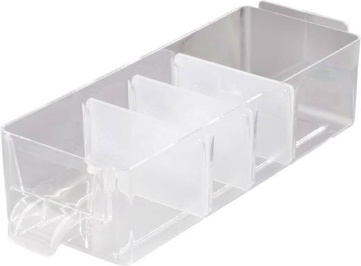 Tartalék fiók elválasztó alkatrésztároló szekrényhez, átlátszó, 31 x 51 mm, 60 db