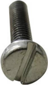 TOOLCRAFT 104314 Hengeres csavarok M6 40 mm Egyeneshornyú DIN 84 Acél Galvanikusan cinkezett 200 db (104314) TOOLCRAFT