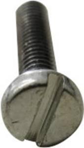 TOOLCRAFT 104411 Hengeres csavarok M5 8 mm Egyeneshornyú DIN 84 Acél Galvanikusan cinkezett, Sárgára krómozott 2000 d TOOLCRAFT