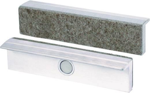 Mágneses rögzítésű, vékony filc védőbevonattal ellátott 100 mm széles alumínium védőpofa satuhoz