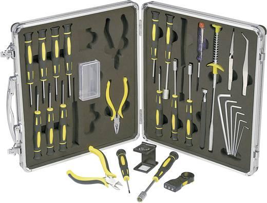 Finommechanikai, elektronikai szerszámkészlet, csavarhúzó készlet 30 részes Basetech 814892