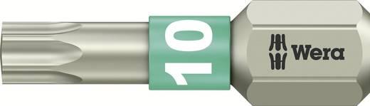 TORX® nemesacél bitek, 25 mm Wera 05071032001 T 10 6,3 mm (1/4) hatlapú DIN 3126-C 6,3, ISO 1173 Hossz:25 mm