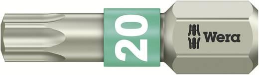 TORX® nemesacél bitek, 25 mm Wera 05071034001 T20 6,3 mm (1/4) hatlapú DIN 3126-C 6,3, ISO 1173 Hossz:25 mm