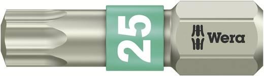 TORX® nemesacél bitek, 25 mm Wera 05071035001 T 25 6,3 mm (1/4) hatlapú DIN 3126-C 6,3, ISO 1173 Hossz:25 mm