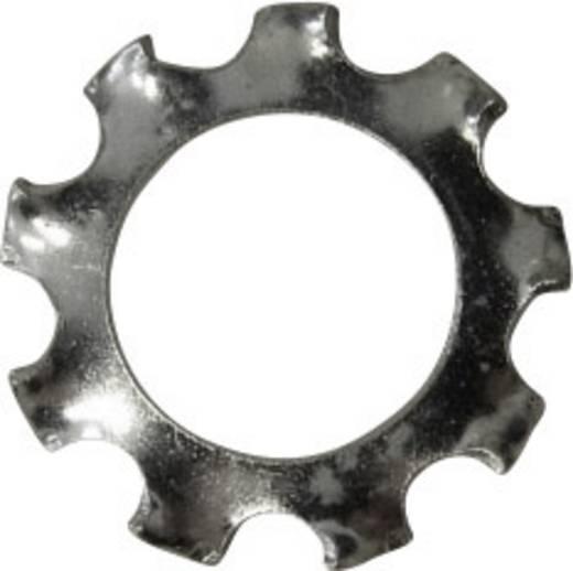 Toolcraft horganyzott acél fogazott alátét, külső fogazású, M8, DIN 6797, 100 db