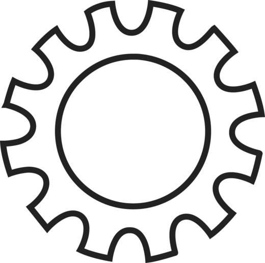 Toolcraft horganyzott acél fogazott alátét, külső fogazású, M4, DIN 6797, 100 db