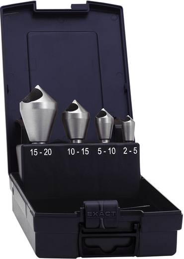 Keresztfuratos süllyesztő készlet, 4 részes HSS 10 mm, 14 mm, 21 mm, 28 mm Exact 05410
