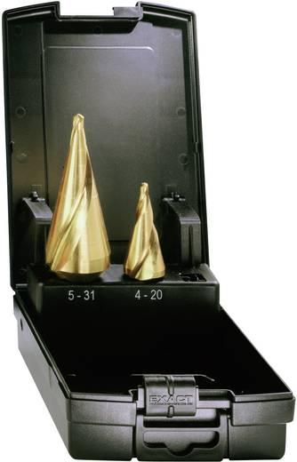 HSS TiN kúposfúró 2részes készlet, spirálhoronnyal 5 - 31 mm, 5 - 20 mm HSS Exact 05284