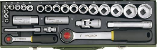 """Proxxon 23020 27 részes autós racsnis dugókulcs készlet, racsnis krova készlet 6,3mm (1/4"""") 12,5mm (1/2"""")"""