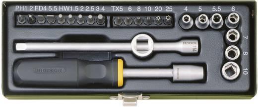 """Proxxon 23072 28 részes ipari csavarhúzó készlet, dugókulcs készlet 6,3mm (1/4"""") hajtáshoz"""